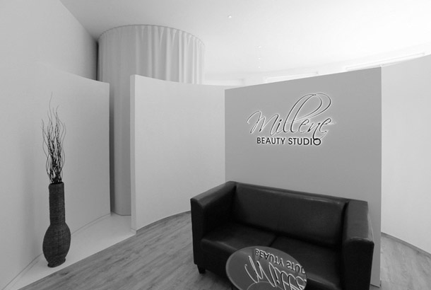 <strong>Beauty salon Millene<span><b>in</b>Commercial interiors</span></strong><i>→</i>