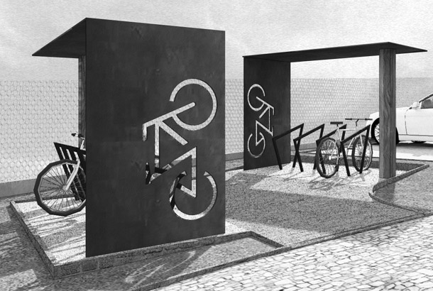 <strong>Bicycle Parking<span><b>in</b>Furnishings</span></strong><i>→</i>